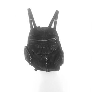 Trendy and distressed leather backpack